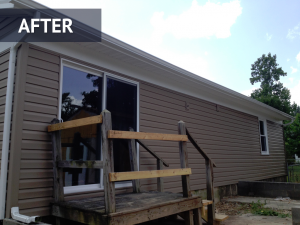Siding installation/repair after photo