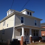 Old home siding and window installation