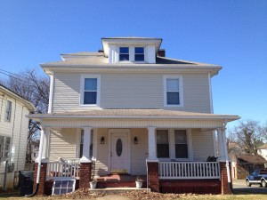 Old home siding and window installation 3