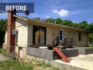 Siding installation/repair before photo