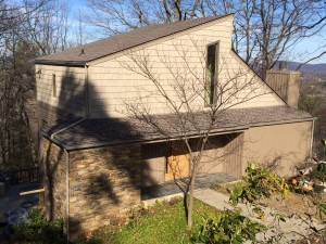 Complete siding repair