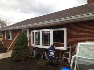 Bow window installation 2
