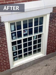 Vinyl window install