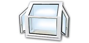 Vinyl Kraft Garden Windows