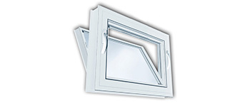 Vinyl Kraft Hopper Windows